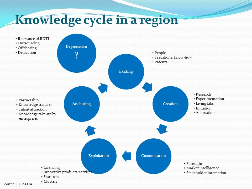 Knowledge cycle in a region