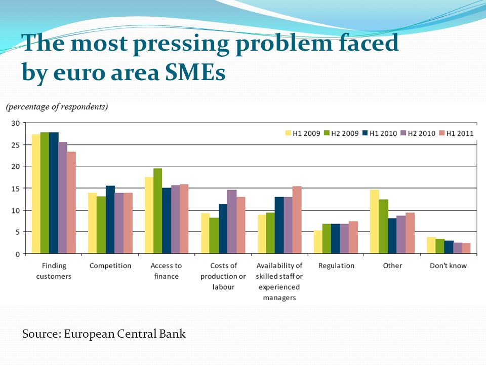 The most pressing problem faced by euro area SMEs
