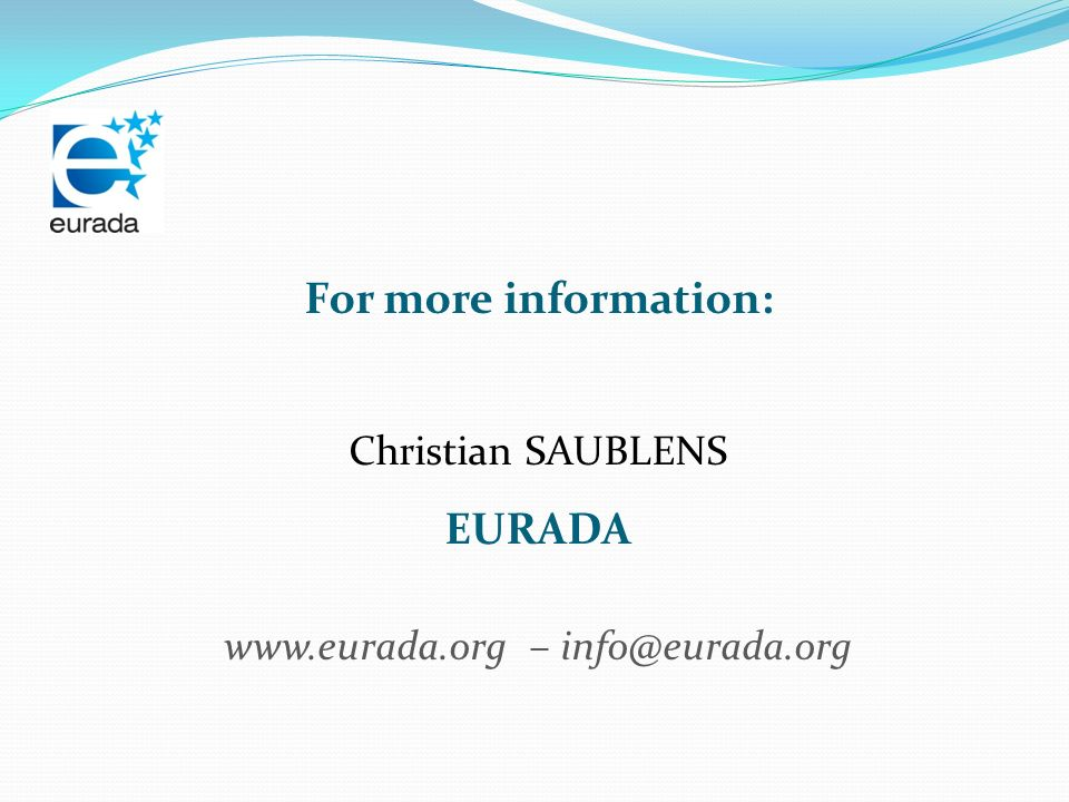www.eurada.org – info@eurada.org