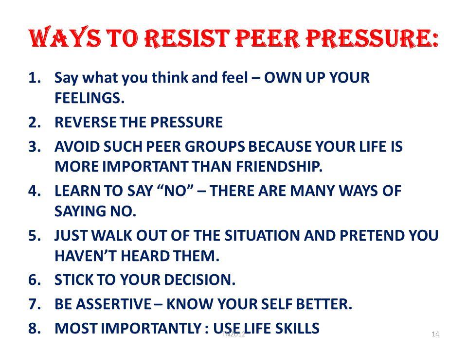 PRESENTATION ON PEER PRESSURE - ppt video online download