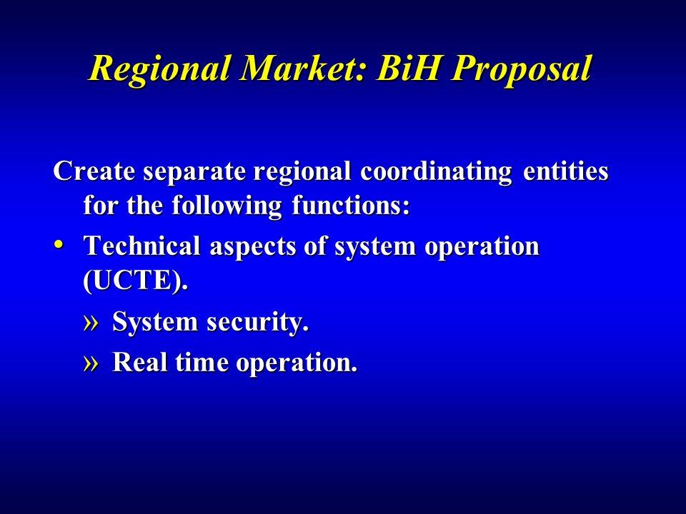 Regional Market: BiH Proposal