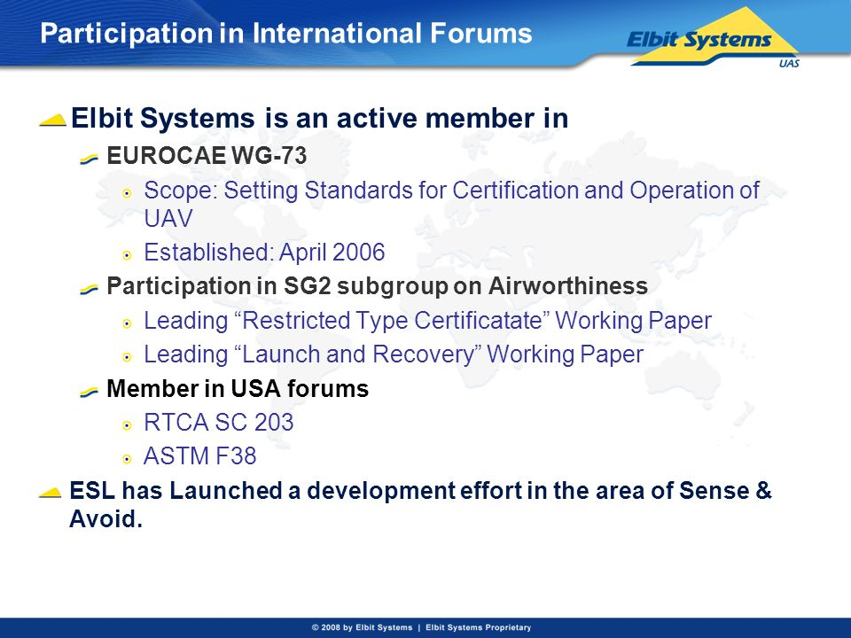 Participation in International Forums