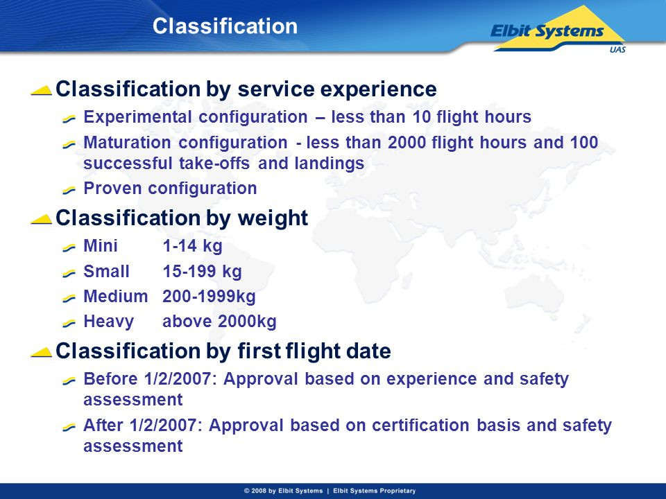 Classification by service experience