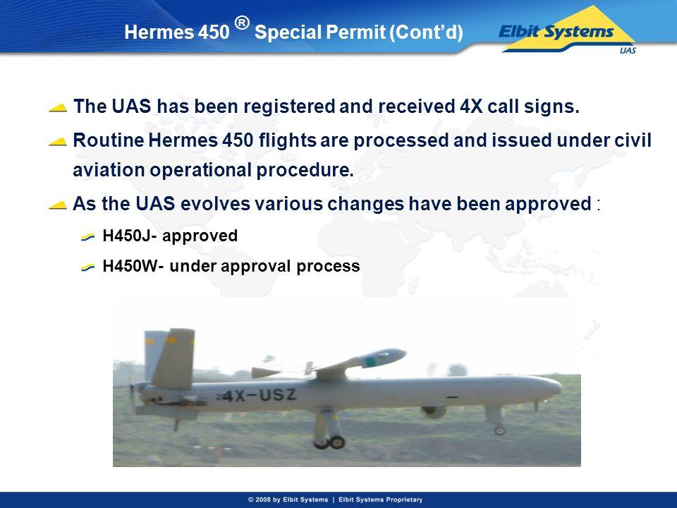Hermes 450 ® Special Permit (Cont'd)