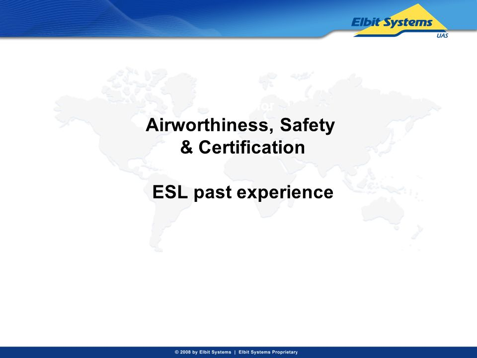 Design for Airworthiness, Safety & Certification ESL past experience