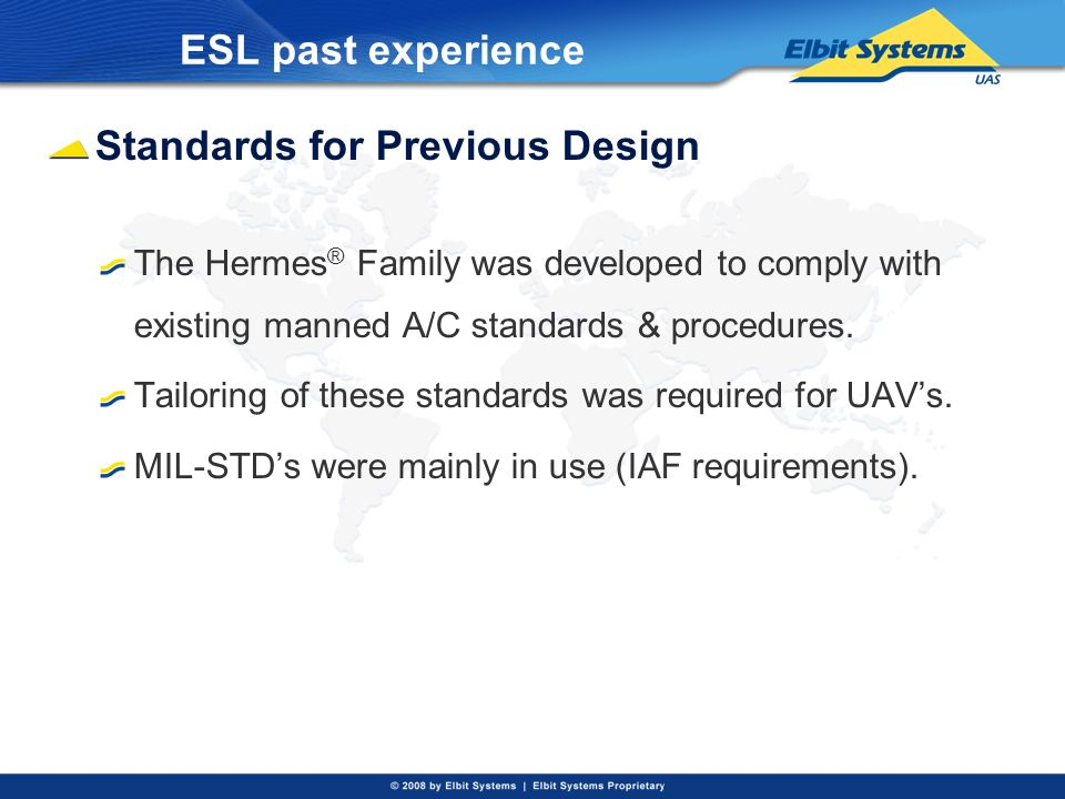 Standards for Previous Design