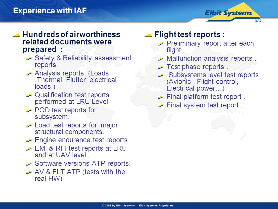 Hundreds of airworthiness related documents were prepared :
