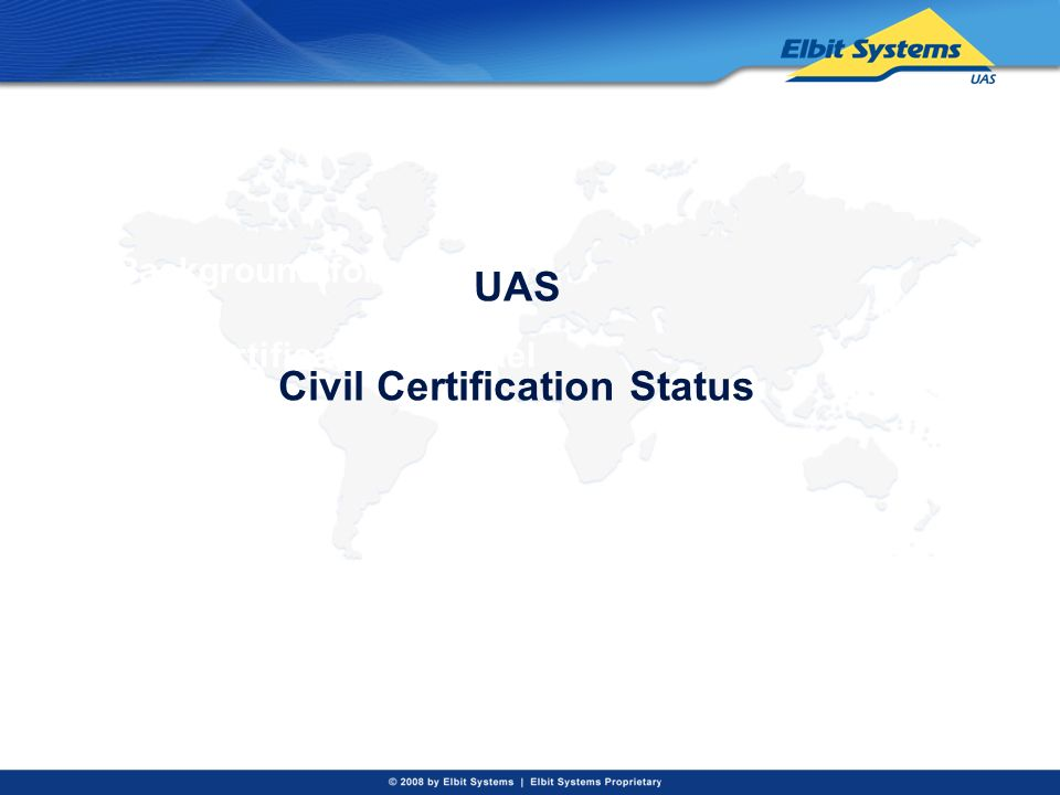 Background for civil certification in Israel