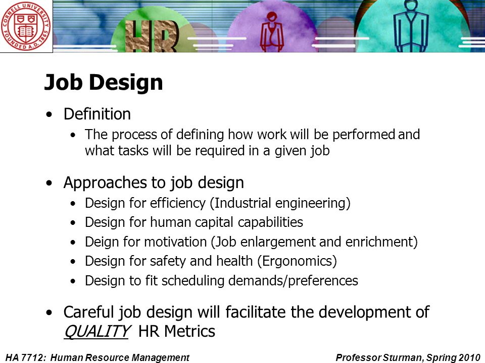 Job Analysis Job Design And The Job Description  Ppt Download