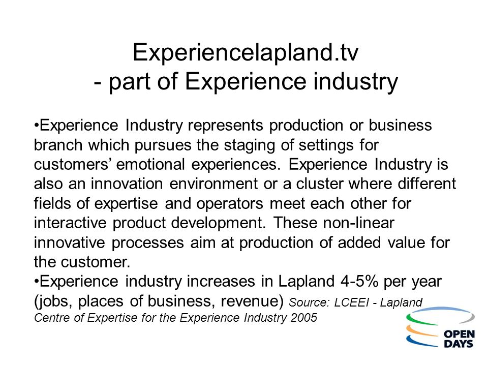 Experiencelapland.tv - part of Experience industry
