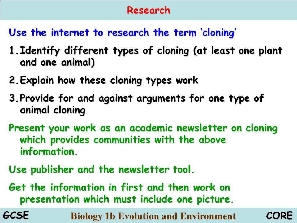 an argument in favor of cloning and its use in medical science On science and technology policy held april 11-12, 2002, in washington, dc 16 human reproductive cloning an important argument in favor of permitting cloning.