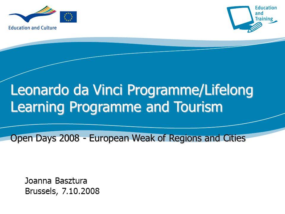 Leonardo da Vinci Programme/Lifelong Learning Programme and Tourism