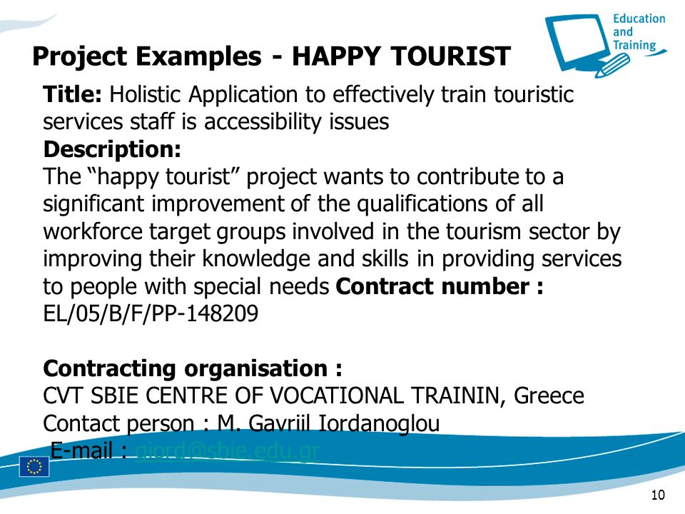 Project Examples - HAPPY TOURIST