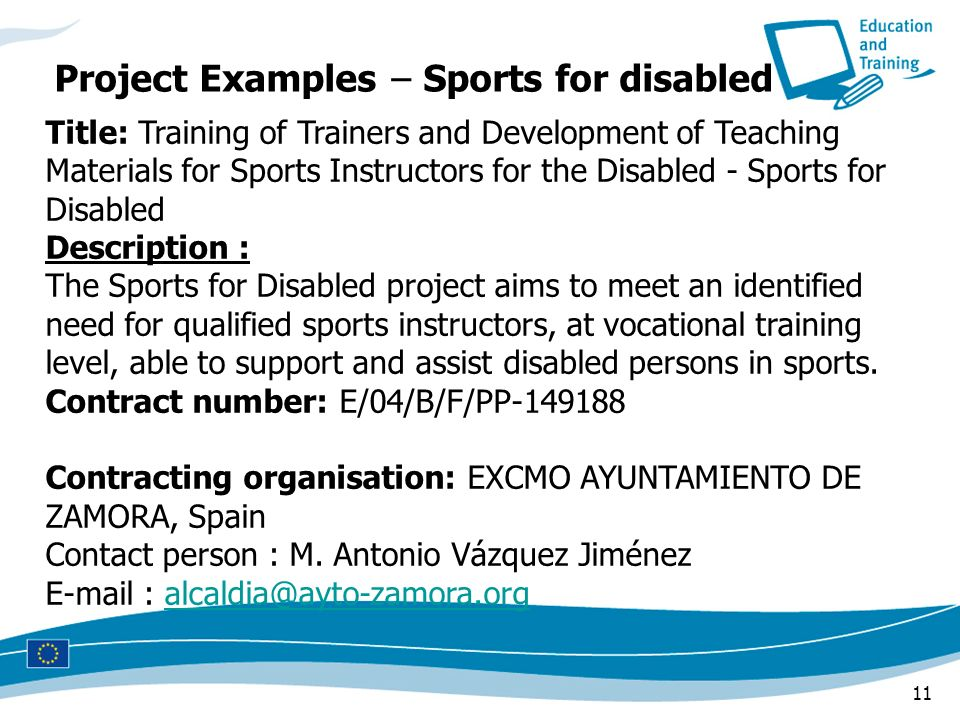 Project Examples – Sports for disabled