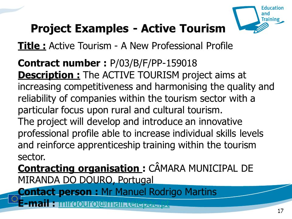 Project Examples - Active Tourism