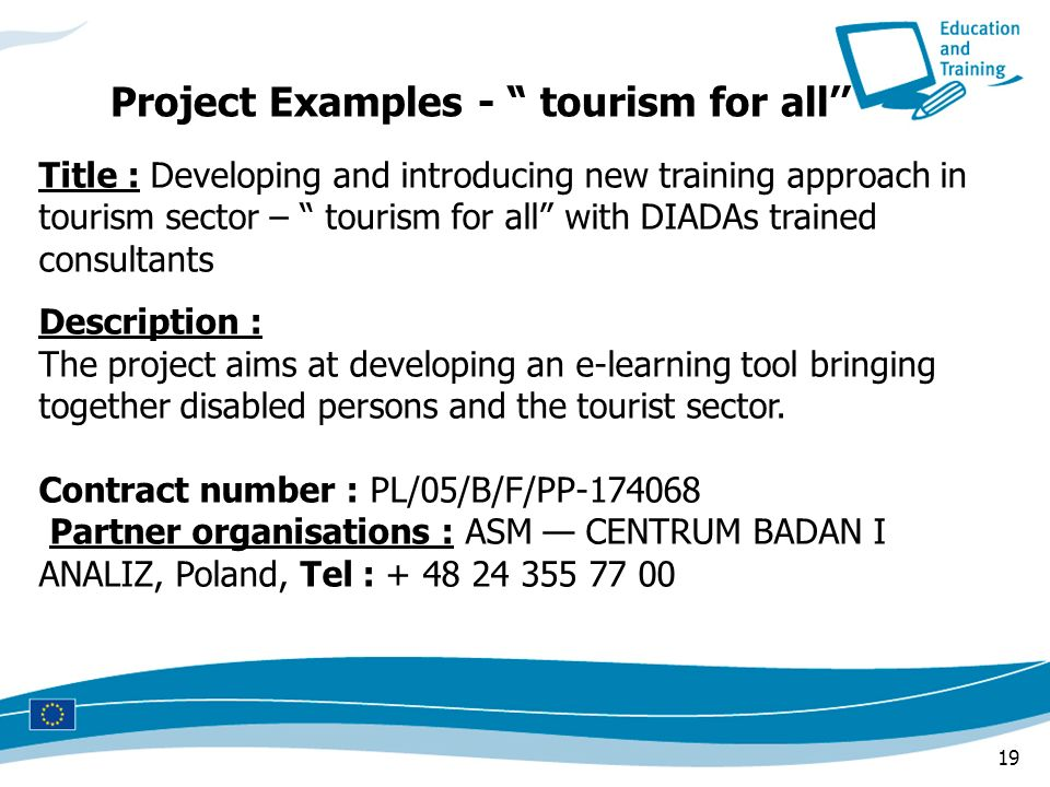 Project Examples - tourism for all''