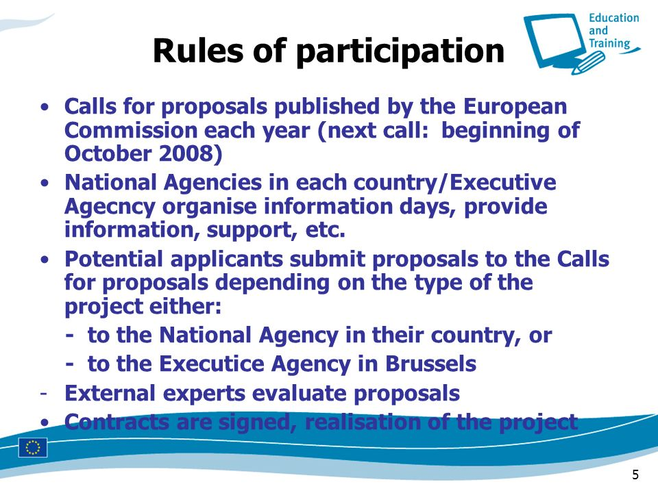 Rules of participation