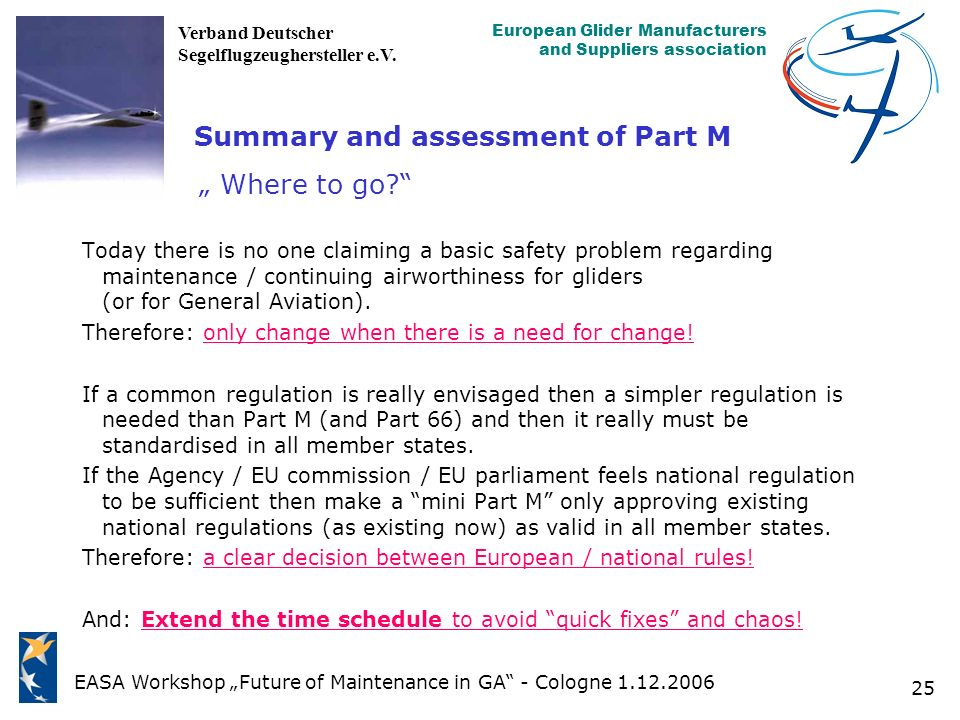 "Summary and assessment of Part M "" Where to go"