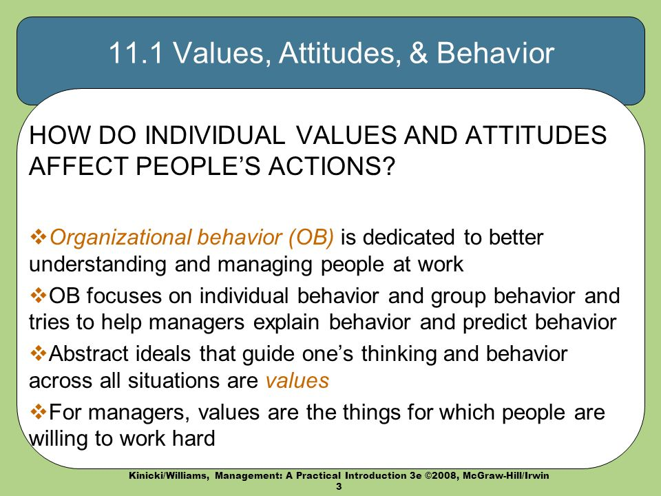 Attitudes an introduction to behavioral science
