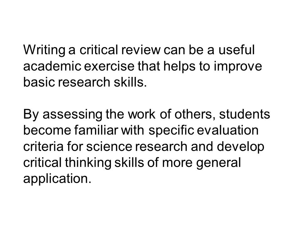 how to write a critical analysis paper