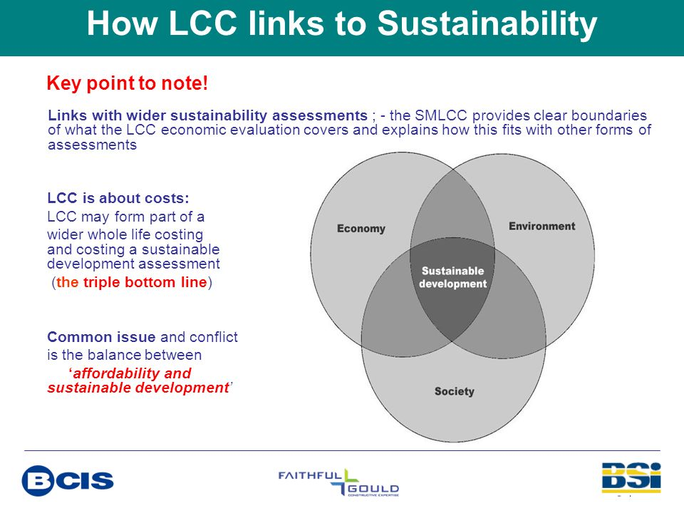 How LCC links to Sustainability