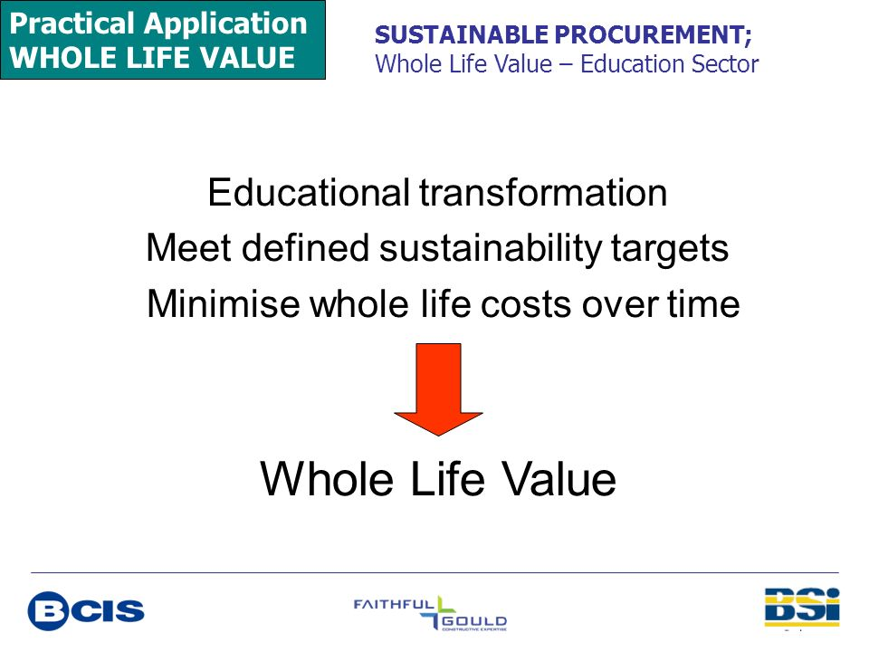 Whole Life Value Educational transformation