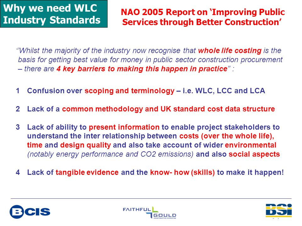 Why we need WLC Industry Standards