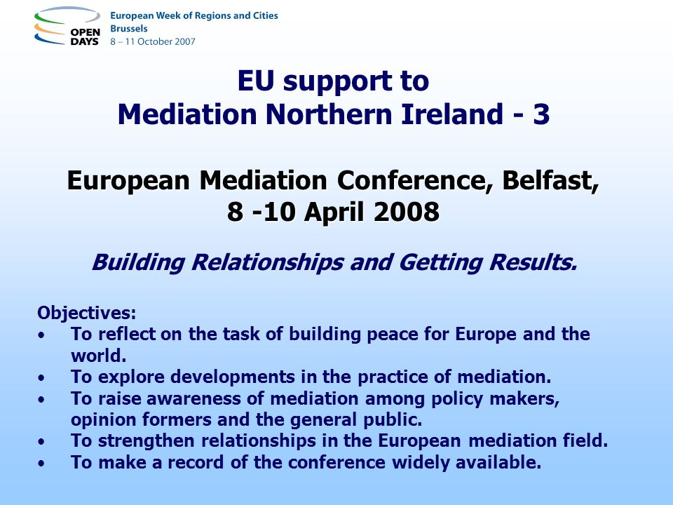EU support to Mediation Northern Ireland - 3