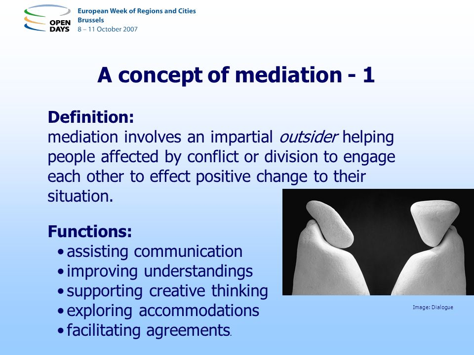 A concept of mediation - 1
