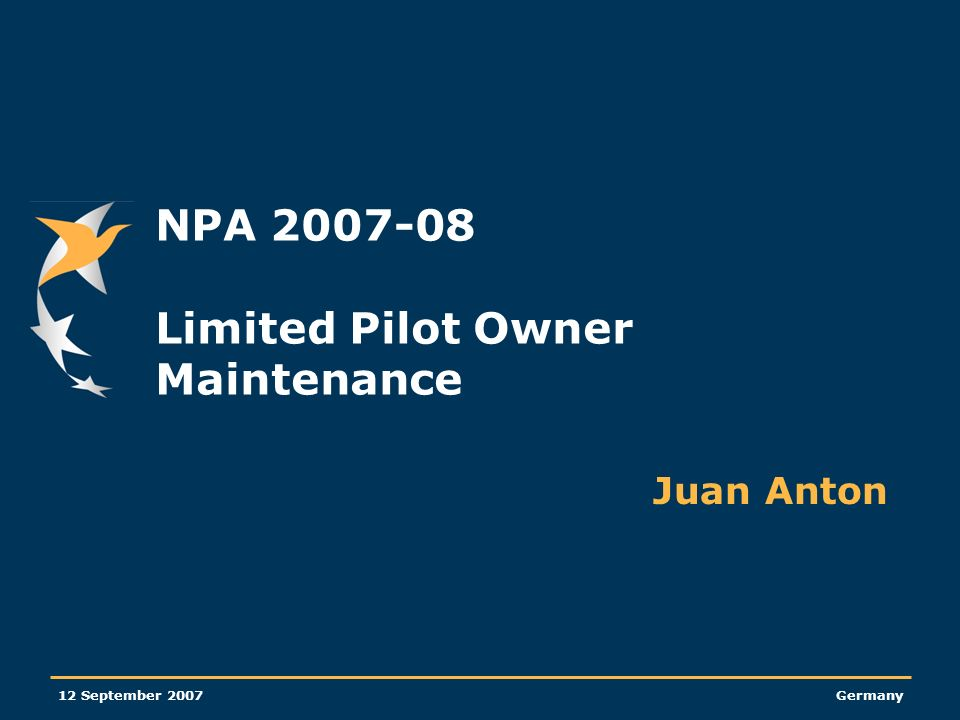 NPA 2007-08 Limited Pilot Owner Maintenance