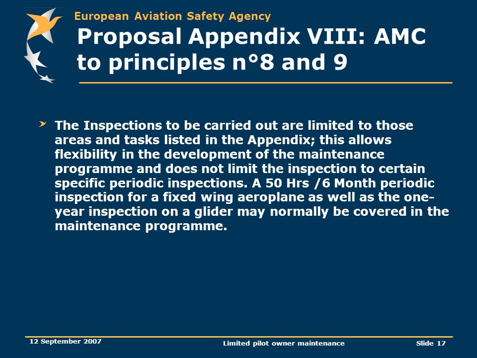 Proposal Appendix VIII: AMC to principles n°8 and 9