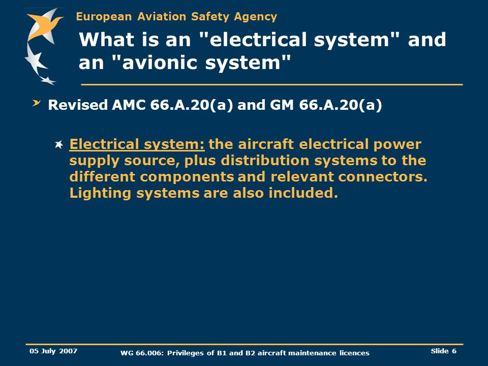 What is an electrical system and an avionic system