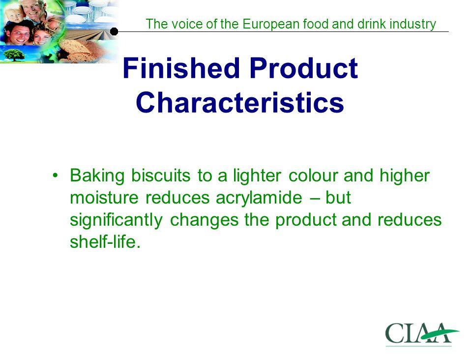 Finished Product Characteristics