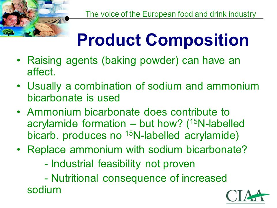 Product Composition Raising agents (baking powder) can have an affect.