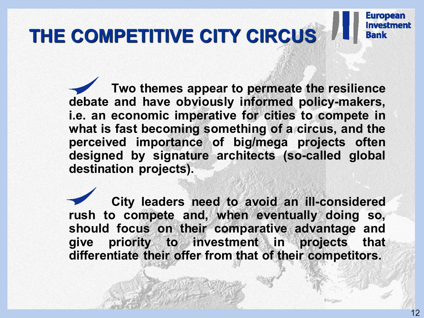THE COMPETITIVE CITY CIRCUS