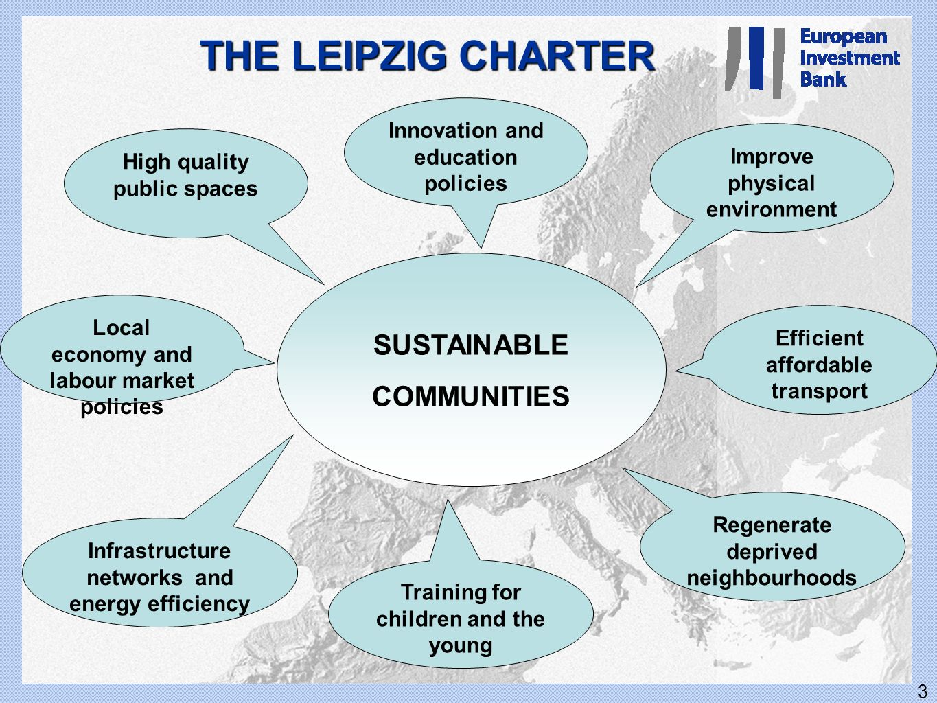 THE LEIPZIG CHARTER SUSTAINABLE COMMUNITIES