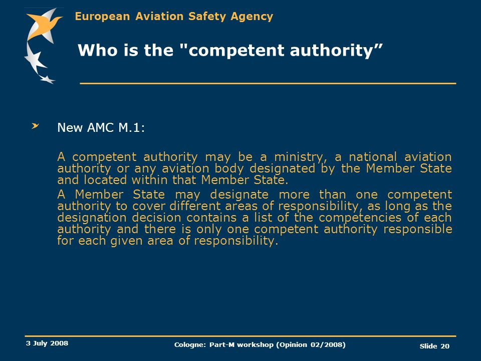 Who is the competent authority
