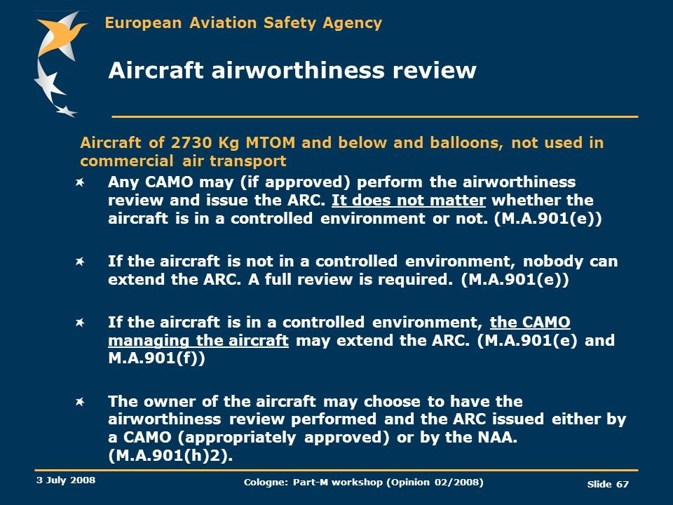Aircraft airworthiness review