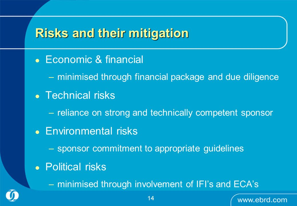 Risks and their mitigation
