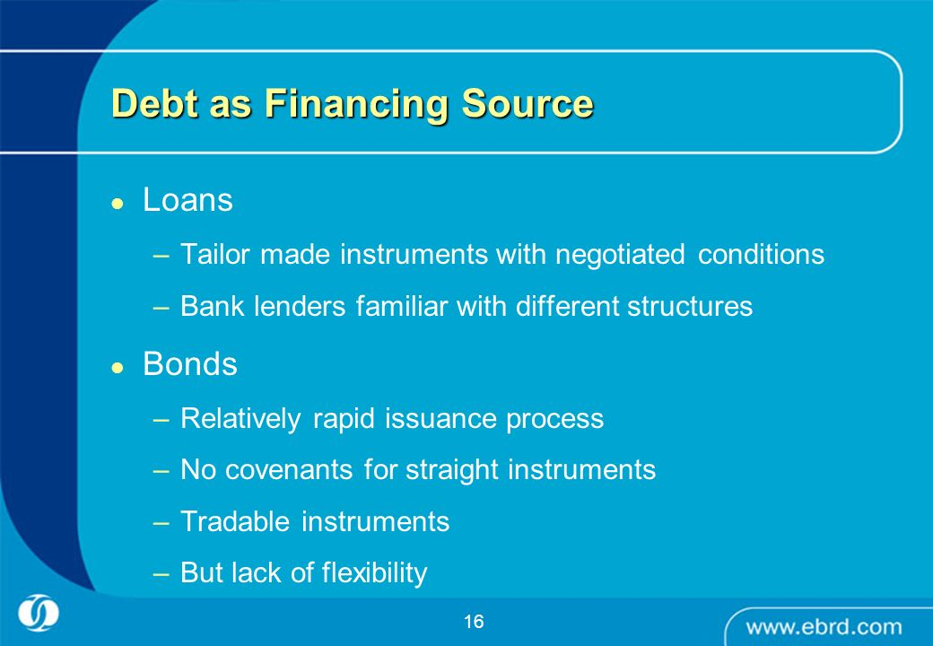 Debt as Financing Source