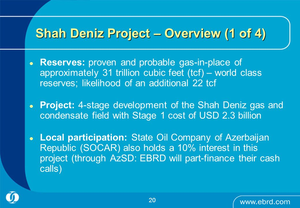 Shah Deniz Project – Overview (1 of 4)