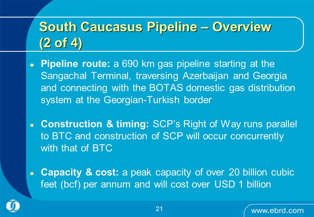 South Caucasus Pipeline – Overview (2 of 4)