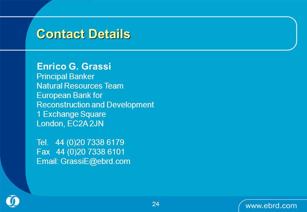 Contact Details Enrico G. Grassi Principal Banker