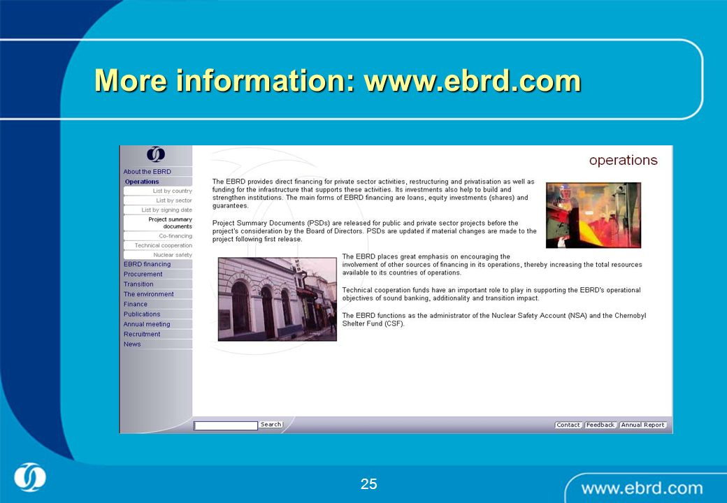 More information: www.ebrd.com