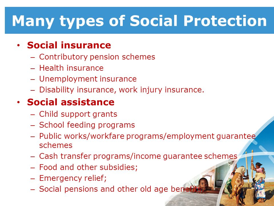 Many types of Social Protection