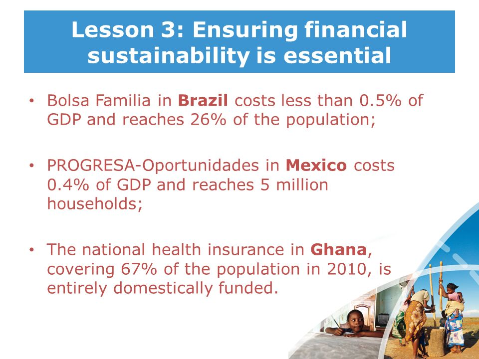 Lesson 3: Ensuring financial sustainability is essential