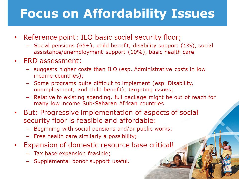 Focus on Affordability Issues