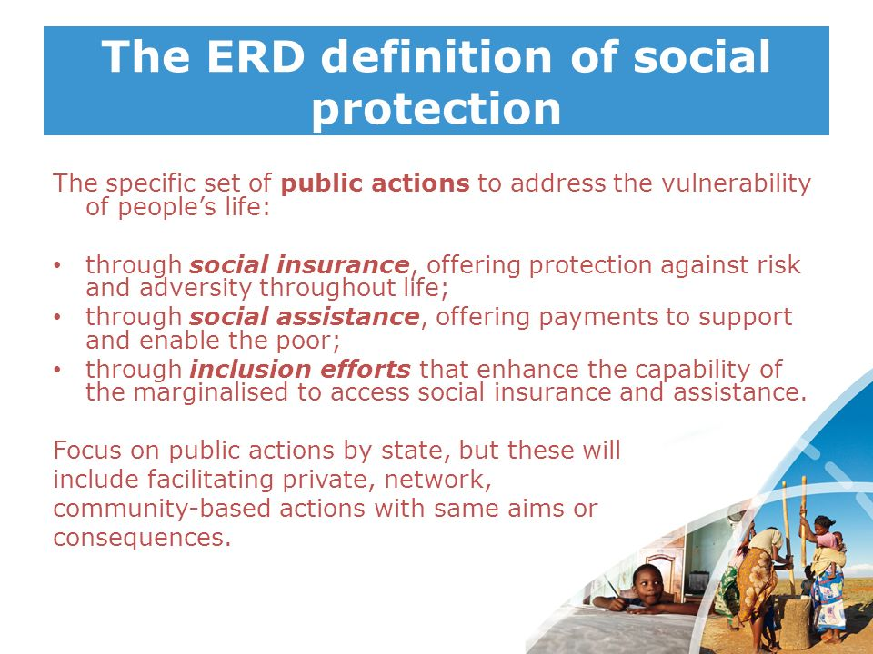 The ERD definition of social protection