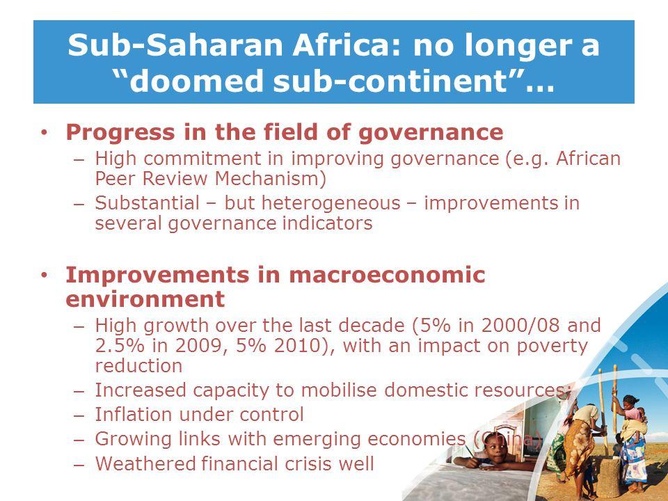Sub-Saharan Africa: no longer a doomed sub-continent …