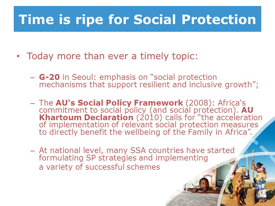 Time is ripe for Social Protection